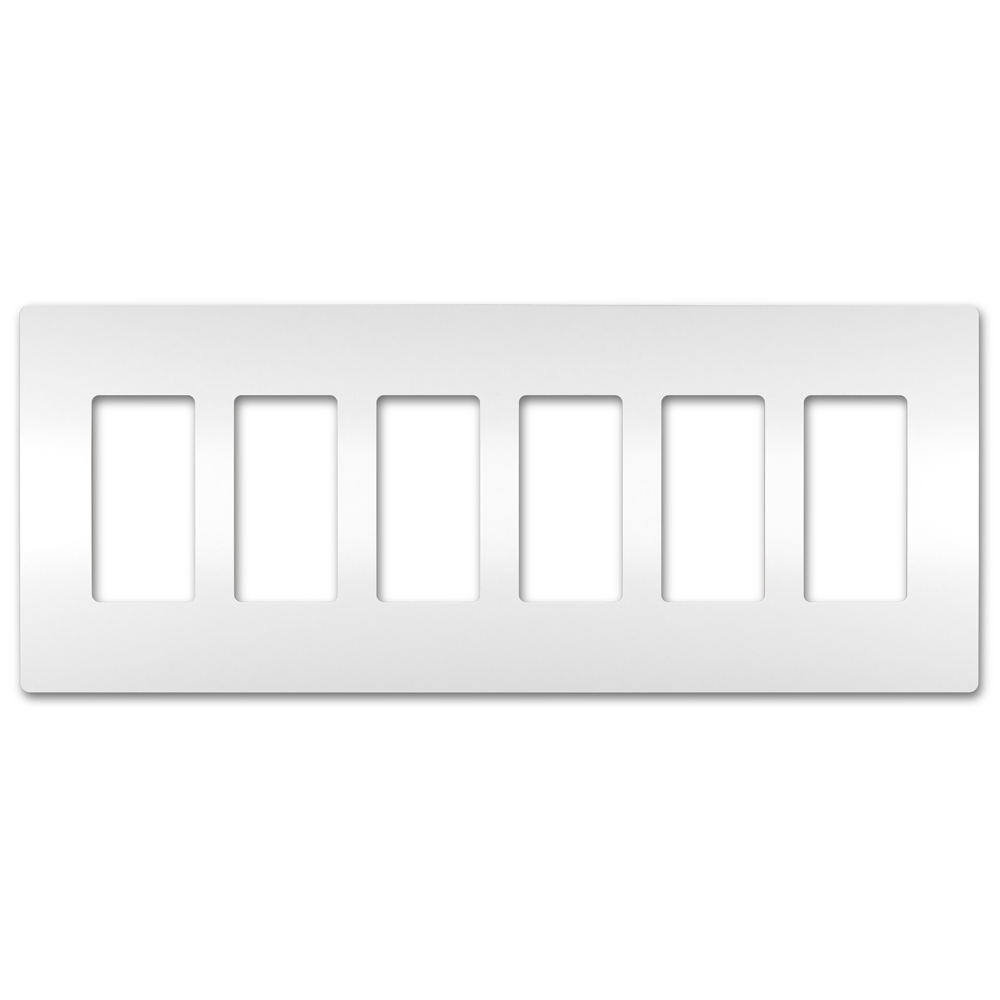 On-Q/Legrand Radiant Screwless Wallplate, 6-Gang, White