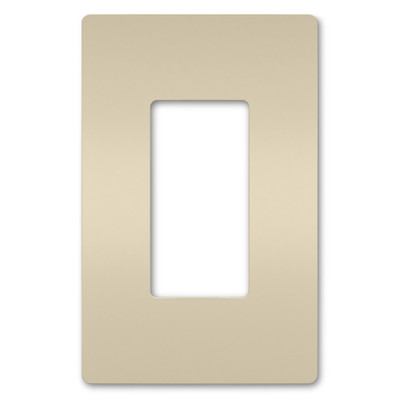 On-Q/Legrand Radiant Screwless Wallplate, 1-Gang, Light Almond