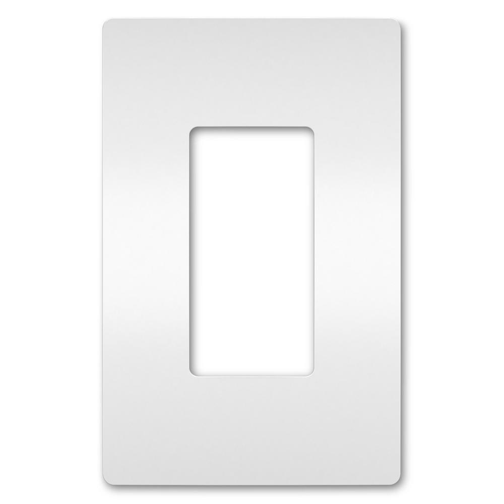 On-Q/Legrand Radiant Screwless Wallplate, 1-Gang, White