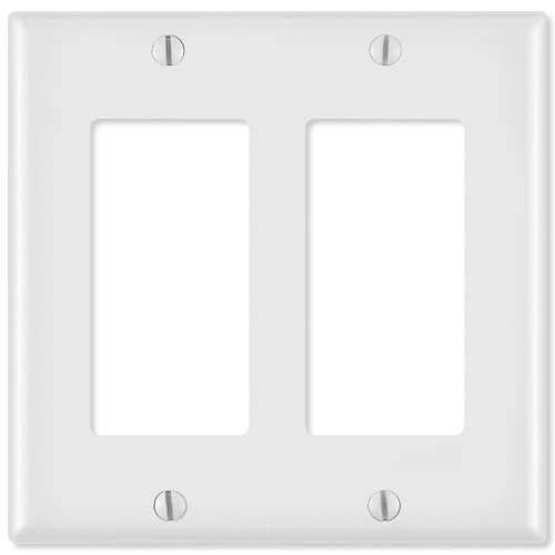 On-Q/Legrand Decorator Wallplate, 2-Gang