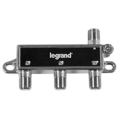 On-Q/Legrand 3-Way Digital Cable Splitter with Coax Network Support