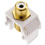 On-Q/Legrand RCA to F Keystone Snap-In Connector, White Insert