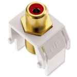 On-Q/Legrand RCA to F Keystone Snap-In Connector, Red Insert