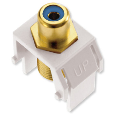 On-Q/Legrand RCA to F Keystone Snap-In Connector, Blue Insert