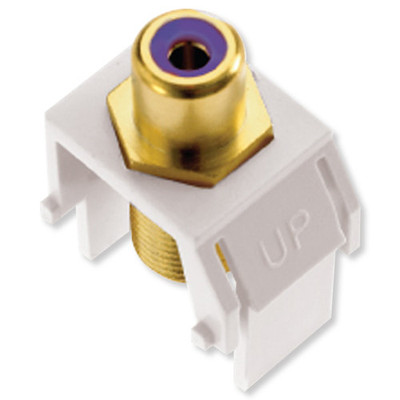 On-Q/Legrand RCA to F Keystone Snap-In Connector, Purple Insert