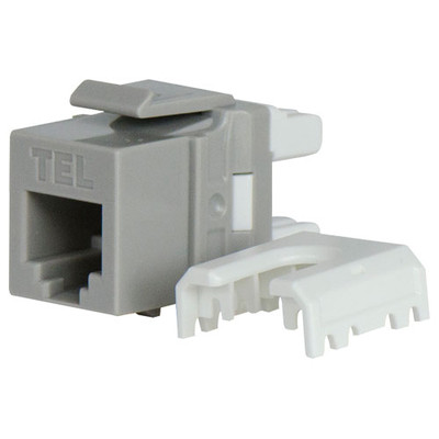 On-Q/Legrand Quick Connect RJ25 Telephone Keystone Snap-In Connector