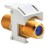 On-Q/Legrand Recessed Self-Terminating F Keystone Snap-In Connector