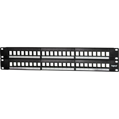 On-Q/Legrand 48-Port Keystone Rack-Mount Patch Panel