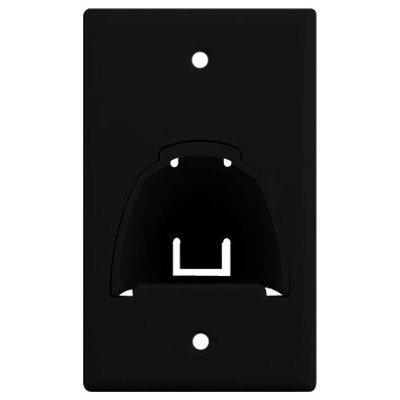On-Q/Legrand Hinged Bullnose Cable Access Wallplate, 1-Gang