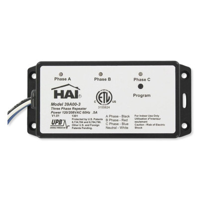 HAI/Leviton UPB Wired-In 3-Phase Repeater