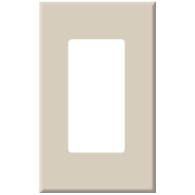 PCS Screwless Decorator Wallplate, 1-Gang, Almond