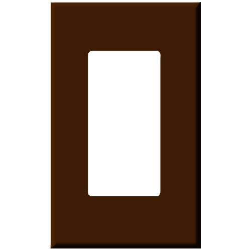 PCS Screwless Decorator Wallplate, 1-Gang, Brown