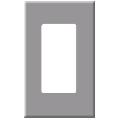 PCS Screwless Decorator Wallplate, 1-Gang, Gray