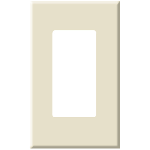 PCS Screwless Decorator Wallplate, 1-Gang, Brown