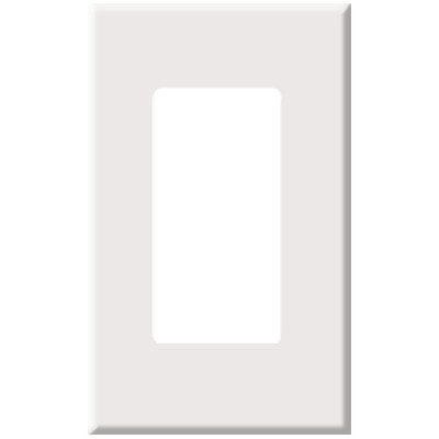 PCS Screwless Decorator Wallplate, 1-Gang, White