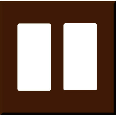 PCS Screwless Decorator Wallplate, 2-Gang, Brown