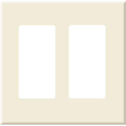 PCS Screwless Decorator Wallplate, 2-Gang, Brown