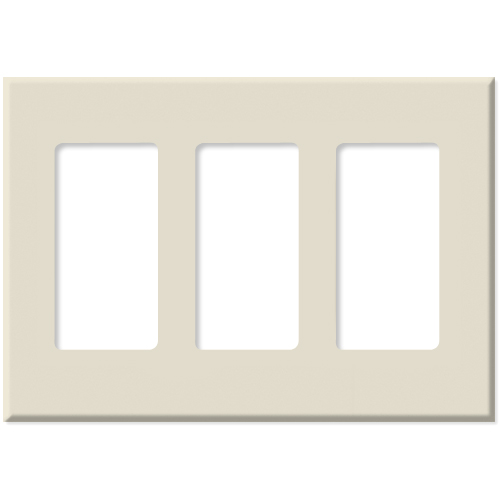 PCS Screwless Decorator Wallplate, 3-Gang, Brown