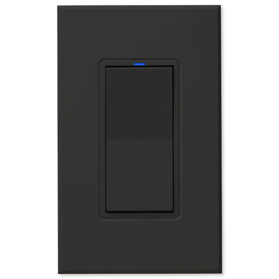 PCS PulseWorx UPB Wall Switch-Relay/Dimmer, Black