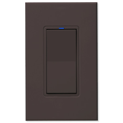 PCS PulseWorx UPB Wall Switch-Relay/Dimmer, Brown