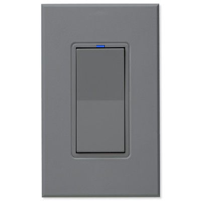 PCS PulseWorx UPB Wall Switch-Relay/Dimmer, Gray