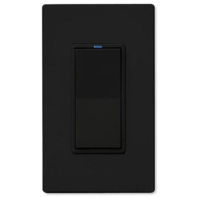 PCS PulseWorx UPB LED/CFL Dimmer Wall Switch, 1,000W, Black