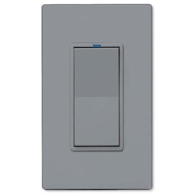 PCS PulseWorx UPB LED/CFL Dimmer Wall Switch, 1,000W, Gray