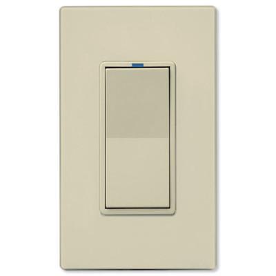 PCS PulseWorx UPB LED/CFL Dimmer Wall Switch, 600W, Almond