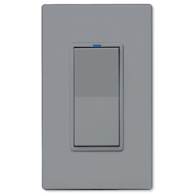 PCS PulseWorx UPB LED/CFL Dimmer Wall Switch, 600W, Gray