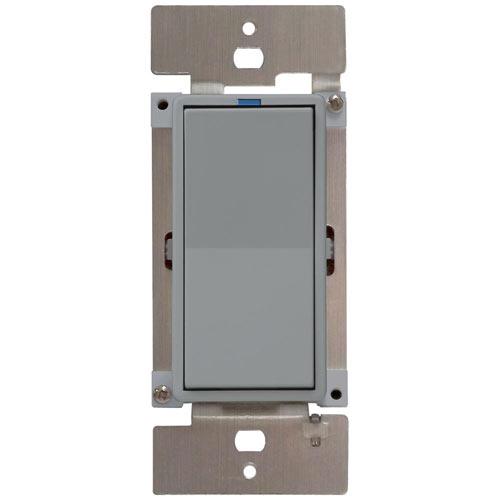 PCS PulseWorx UPB LED/CFL Dimmer Wall Switch, 600W, Gray