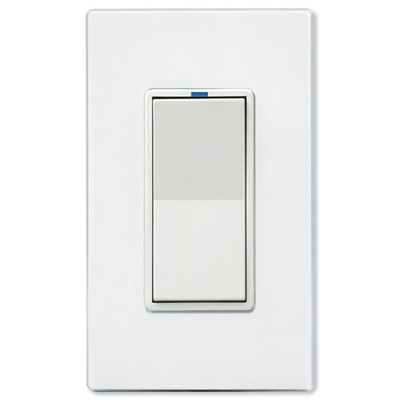PCS PulseWorx UPB LED/CFL Dimmer Wall Switch, 600W, White