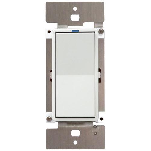 PCS PulseWorx UPB LED/CFL Dimmer Wall Switch, 600W, White
