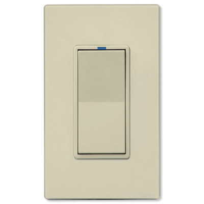 PCS PulseWorx UPB Electronic Low-Voltage Dimmer Wall Switch, 300W, Almond
