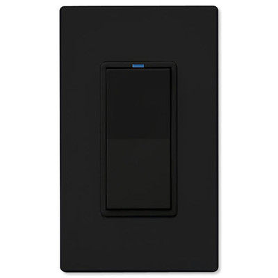 PCS PulseWorx UPB Electronic Low-Voltage Dimmer Wall Switch, 300W, Black