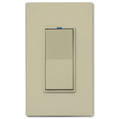 PCS PulseWorx UPB Electronic Low-Voltage Dimmer Wall Switch, 500W, Ivory