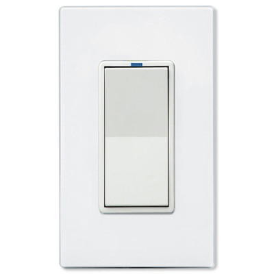 PCS PulseWorx UPB Electronic Low-Voltage Dimmer Wall Switch, 500W, White