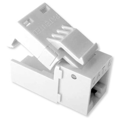 Platinum Tools EZ-SnapJack Cat5e Connector, White