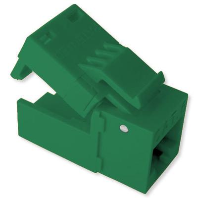 Platinum Tools EZ-SnapJack Cat6 Connector (4 Pack), Green
