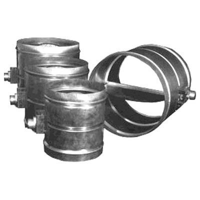 RCS HVAC Bypass Damper, Adjustable Barometric Relief, 10 In.