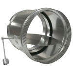 RCS HVAC Bypass Damper, Adjustable Barometric Relief, 12 In.