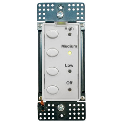 Simply Automated UPB 3-Speed Fan Controller with 4 Oval Buttons