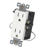 Simply Automated UPB Split Duplex Wall Receptacle, Almond