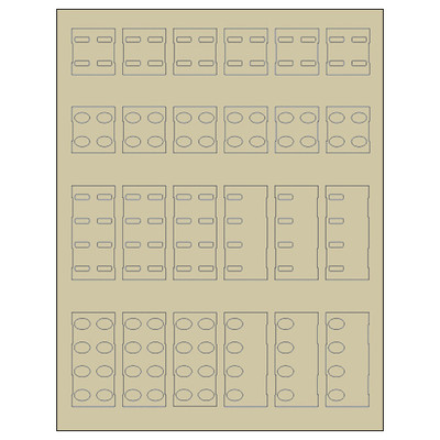 Simply Automated Label Kit for SAI Keypads, Ivory