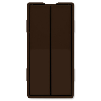 Simply Automated UPB Faceplate, Dual Rockers, Tall, Brown