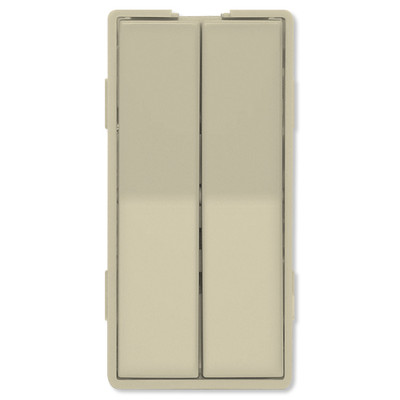 Simply Automated UPB Faceplate, Dual Rockers, Tall, Ivory