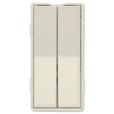 Simply Automated UPB Faceplate, Dual Rockers, Tall, Light Almond