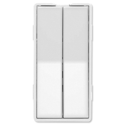 Simply Automated UPB Faceplate, Dual Rockers, Tall, White