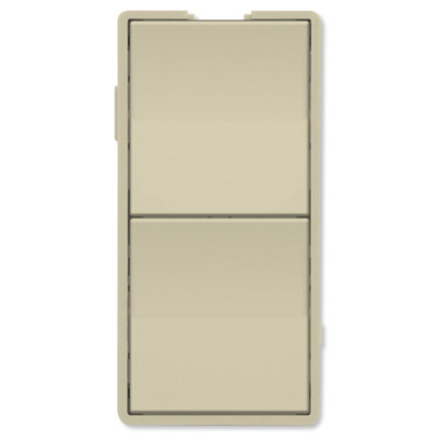 Simply Automated UPB Faceplate, Dual Rockers, Short, Ivory