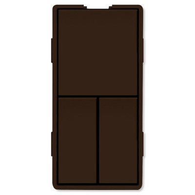 Simply Automated UPB Faceplate, Triple Rockers, Brown
