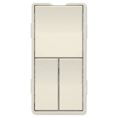 Simply Automated UPB Faceplate, Triple Rockers, Light Almond